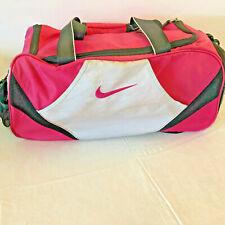 Nike Swoosh Pink/Black Duffle Gym Bag Shoulder Cross-Body Hand-Held Side Pocket