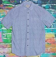 Emerson Shirt Medium Mens Dress Shirt Formal Button Up Designer RETRO Suit Top M