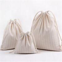 cotton storage bag Pure color stripe drawstring travel makeup bag shoes OF