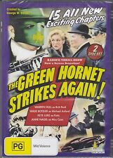 THE GREEN HORNET STRIKES AGAIN - Warren Hull, Wade Boteler- 2 DVD's 15 EPISODES