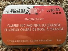 PINK to ORANGE Ombre Ink Pad By Recollection 534743 NEW