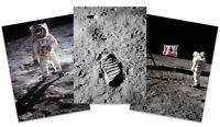 Apollo 11 NASA Aldrin Armstrong Moon Landing 3 x Large Wall Art Poster Pack