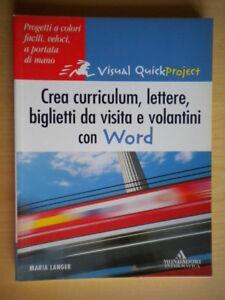Crea curriculum lettere biglietti visita volantini Word informatica software