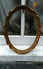 "VINTAGE SWEPT GOLD GILT PHOTO  PICTURE OVAL FRAME 8 1/2""""W x 10 7/8""D (B)"