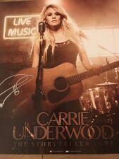 Gorgeous Grammy Winner Carrie Underwood Signed Poster COA JSA