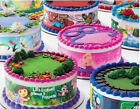 Pink Camo Birthday ~ Edible 2D Fondant Cake 3 Strip Side Topper ~ D8447 *