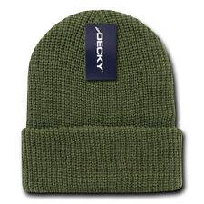 Olive Green GI BEANIE HAT Cuffed Knit Winter Watch Cap ski snowboard army skully