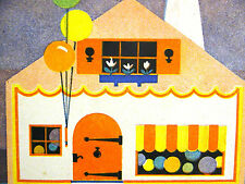 Elizabeth Cadie 1934 SWEET LITTLE HOME HOUSE on TUCKET LANE Vintage Print Matted