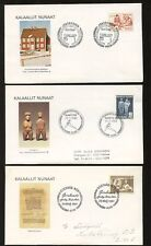 GREENLAND 1958-80 ILLUSTRATED FIRST DAY COVERS...10 DIFFERENT