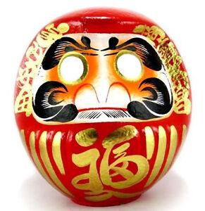 "Japanese 19.5""H Red Daruma Doll Wish Making Good Business Success Made in Japan"