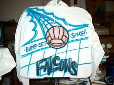 Airbrushed Hooded Sweatshirt VOLLEYBALL S M L XL 2X 3X