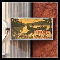 Vintage Pflueger Lure Box Photo Keychain Gift Free Shipping