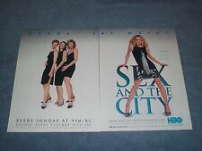 "2000 HBO Sex and the City Vintage 2pg Ad ""Ready for More?"" Sarah Jessica Parker"