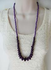 "28"" long graduated purple bead necklace,  Clearance stock SALE"