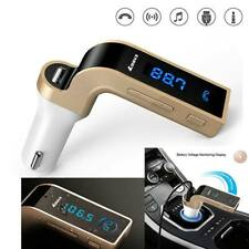 Bluetooth Car Fm Transmitter Hands Free Call Radio Mic Mp3 Player