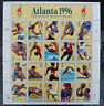 OLYMPIC GAMES STAMPS ATLANTA 1996 Centennial Stamp Sheet MINT