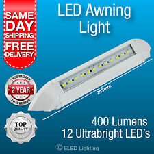 2 x Caravan Awning Light LED Annex Lamp 12v 400 Lumen White Strip Lamp Waterproo