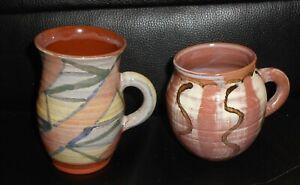 2 Jackie Walton Studio Pottery Mugs