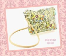 """SO CHIC VINTAGE STYLE SMALL SHOULDER BAG """" GOLDEN LILY""""  BY WILLIAM MORRIS"""