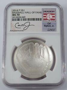 2014 P $1 Baseball Hall of Fame NGC MS70 Cal Ripken Jr. - 3915028-049