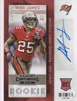 2013 PANINI CONTENDERS FOOTBALL MIKE JAMES  AUTO RC MINT FROM PACK