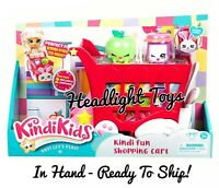In Hand 1 Kindi Kids Rabbit Petkin Fun Shopping Cart 2 Exclusive Shopkins Dolls