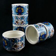 "COQUETIERS VINTAGE(x6) ""Sept fontaines"" VILLEROY & BOCH Eggcup Design/acapulco"