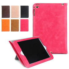 Luxury Leather Wallet Smart Folio Stand Case Cover For iPad 2/3/4/Air 2/Mini/Pro