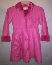 American Widgeon Pink Faux Suede Fur Lined Winter Coat Jacket Girls Size 10