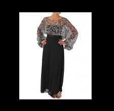 VICKY MARTIN blouse top kaftan sheer see through white black top 8 10 12 BNWT