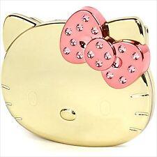 Hello Kitty Mirror and Comb Swarovski Gold Compact Mirror Japan New