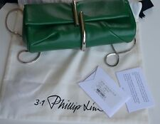 NWT 3.1 PHILLIP LIM Grass Leather Minaudières Clutch