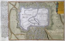 Haguenau 1726 plan de ville Bas-Rhin Alsace Bodenehr