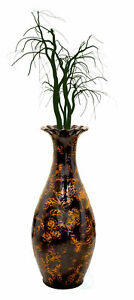 New UniquewiseTraditional Brown Trumpet Shaped Floor Vase, 36 Tall,QI003300L