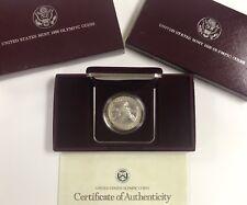 1988 Silver Commemorative Proof Dollar $1 W/ Box COA