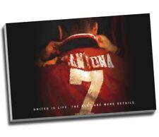 "Eric Cantona Manchester Utd Football Canvas Print Wall Art 30x20"" A1"