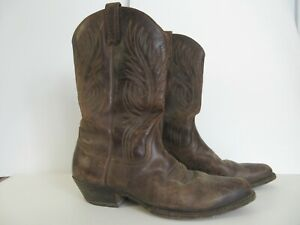 Mens LOBLAN cowboy boots - Brown Leather UK Size 11 Made in Venezuela
