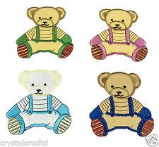 8x kids teddy bear iron on fabric patches, teddy bear transfer