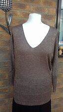 next glitter  cold Shoulder Top Size 8..brown/copper batwing