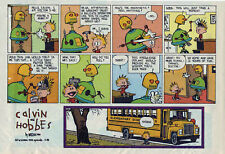 Calvin and Hobbes by Bill Watterson - color Sunday comic page - Nov. 28, 1993