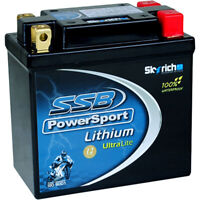SSB PowerSport NEW LFP14AHQ-BS Lithium Ultralite Starter 12V Motorcyle Battery