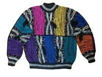 VINTAGE GIL AIMBEZ 80's Size L Large Oversized Wool Blend Pullover Sweater