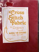 Cross Stitch Fabric Red Aida 18 Ct 12� X 18� By Regency