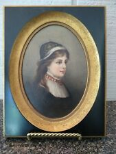 Antique Mini Charles Soule (1809-1869) attributed Oil On Board Portrait Painting