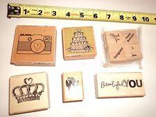 Lot Wedding Prom Cake Camera Rubber Stamps Stamp Card Making Art Scrapbook