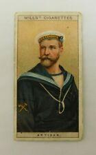 Cigarette Tobacco Card Wills Naval Dress & Badges 1909 # 43 Artisan RN  /  RAN