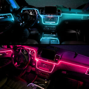5M Car Interior Ambient Light RGB LED Neon Bluetooth Phone APP + Underglow Lamp
