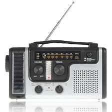 Solar Emergency Hand Crank Dynamo AM/FM Radio Survival LED Flash Light