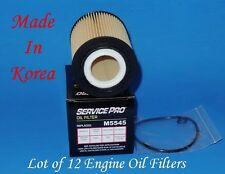 Lot of 12 Oil Filter With Gaskets Service Pro M5545 Made in Korea Fits: Audi VW