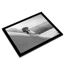 A3 Glass Frame BW - Freeride Skiing Mountains Ski Snow  #42894